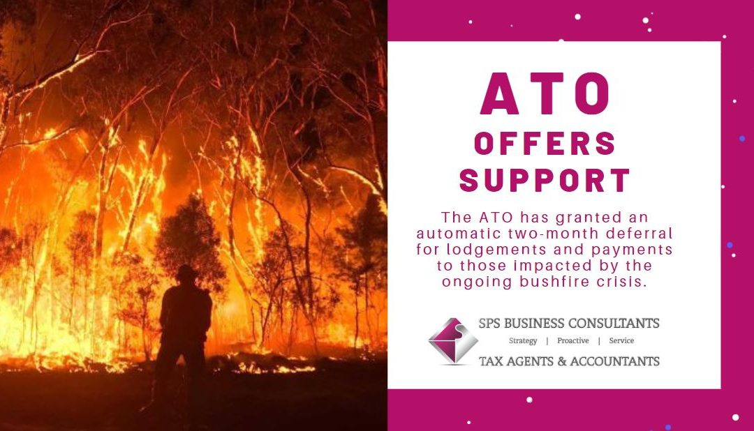 ATO grants automatic deferrals in bushfire support