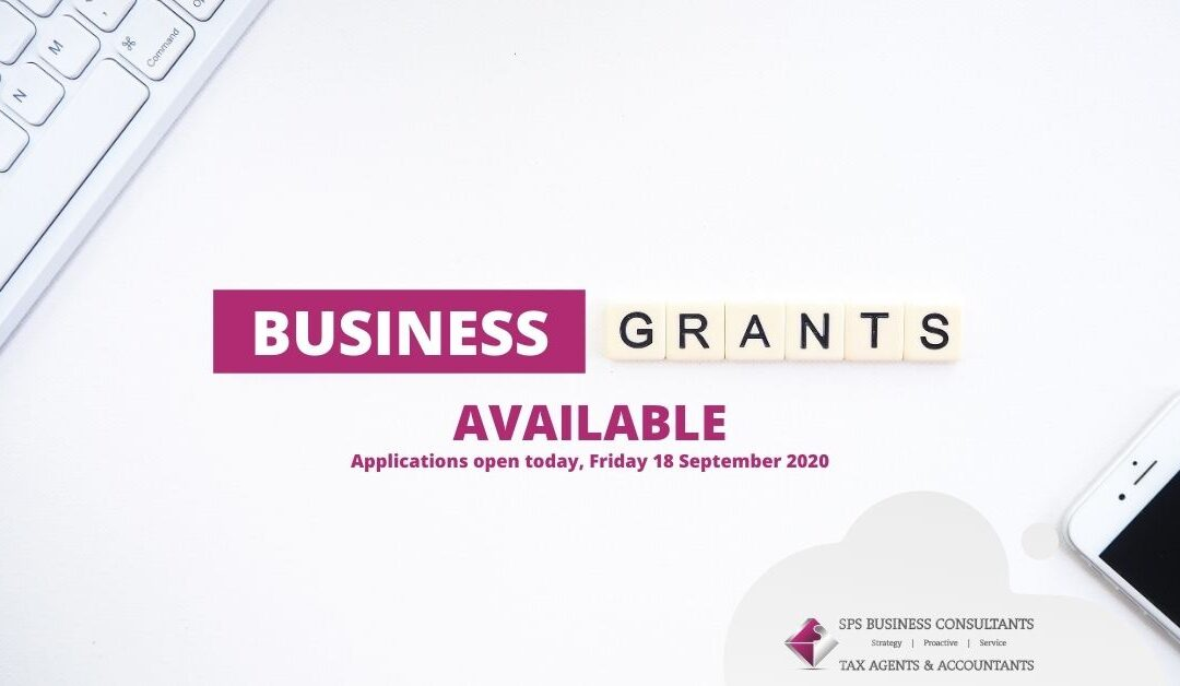 New Business Support Grants & JobKeeper 2.0