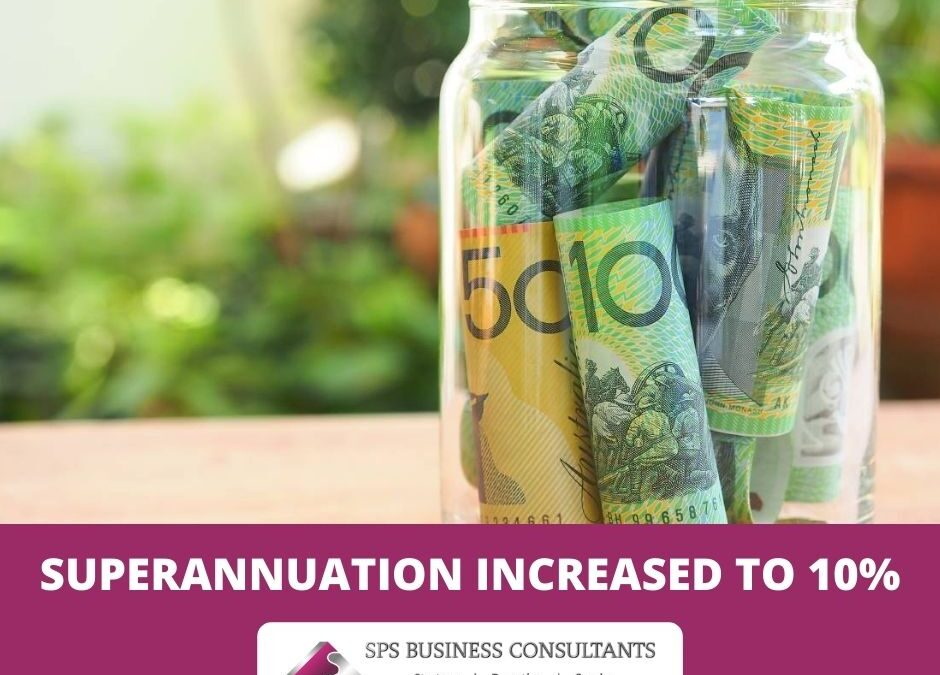 Superannuation Rate Increased to 10%